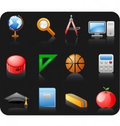 education black icon set vector image vector image