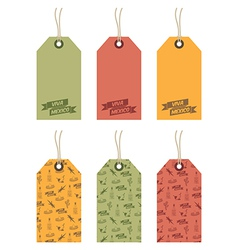 mexican tags vector image vector image