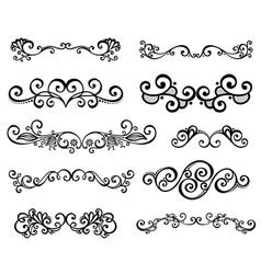 Set of Calligraphic Borders vector image