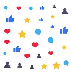 speech bubbles like star follower symbols vector image vector image