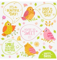 birds speech vector image vector image