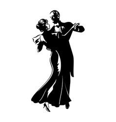 Dancing pair vector image vector image
