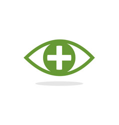 eye pllus logo vector image vector image