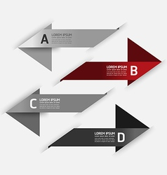 Modern Design template number banners vector image vector image