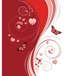 Red swirl ornament vector image