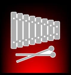 xylophone style vector image
