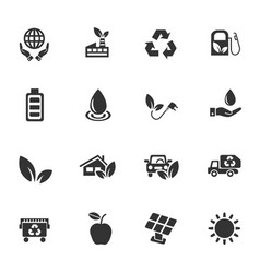 alternative energy icon set vector image