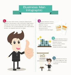 Infographic business man business concept vector image