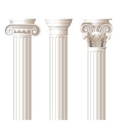 Ionic doric corinthian columns vector