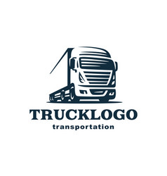 logo truck and trailer vector image vector image