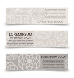 oriental ornaments banners design - asian japanese vector image