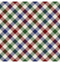plaid material green red blue seamless pattern vector image vector image