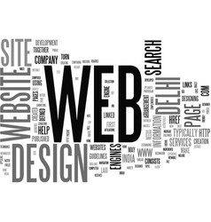 a brilliant set up for web development text word vector image