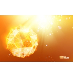 Abstract atom design vector image