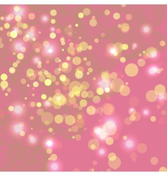Abstract pink background with ligths vector