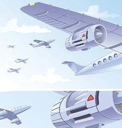Airplane Wing vector image