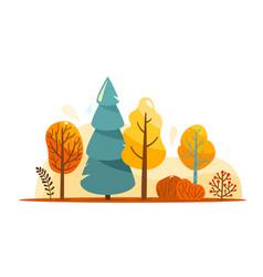 Autumn tree abstract bright vector