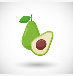 Avocado flat icon vector