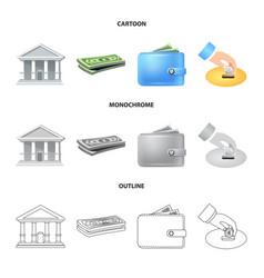 Bank and money logo set of vector