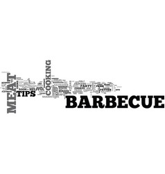 barbecue tips text word cloud concept vector image