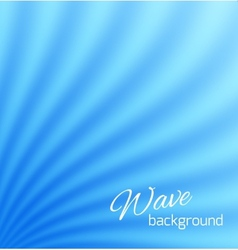 Blue abstract smooth light lines background vector image