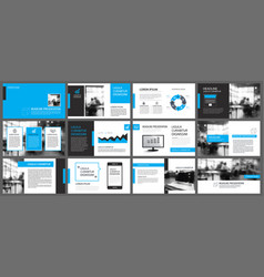 blue and white element for slide infographic on vector image