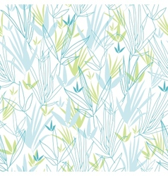 blue bamboo branches seamless pattern background vector image