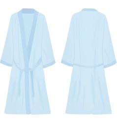 Blue bathrobe vector