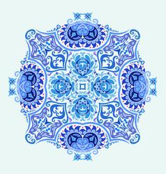 blue decorative floral ethnic vector image