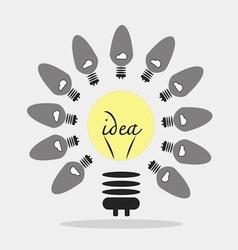Bulb light idea idea concept vector image