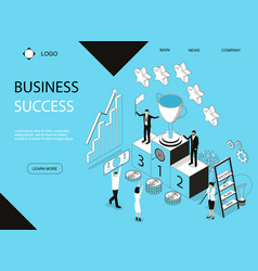 business success concept banner card with elements vector image
