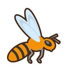 cartoon bee insect flower pollen vector image