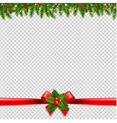 Christmas garlands transparent background vector