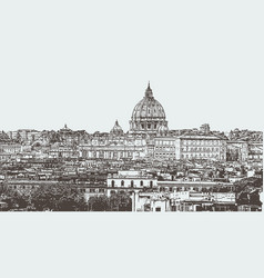 city of rome the capital of italy vector image