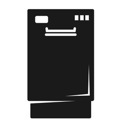 closed dishwasher icon simple style vector image