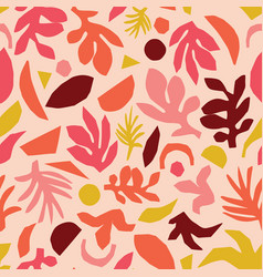 collage contemporary floral pattern vector image
