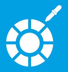 Color picker icon white vector