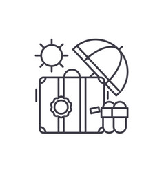 cruise line icon concept cruise linear vector image