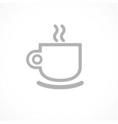 Cup of tea or coffee icon drawn by single vector