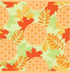 Cute autumn seamless pattern pumpkin pie and vector