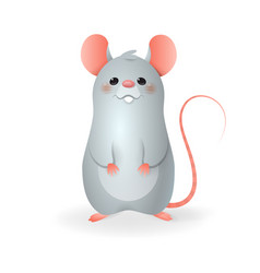 cute little rat - cartoon styl vector image