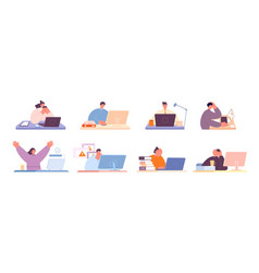 daily office work business people at desk home vector image
