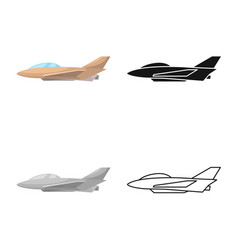 Design aeroplane and commercial symbol vector
