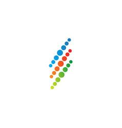 dot line technology colorful business logo vector image