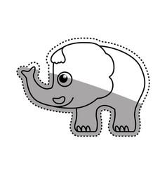 elephant cartoon drawing childish vector image