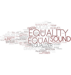 Equal word cloud concept vector