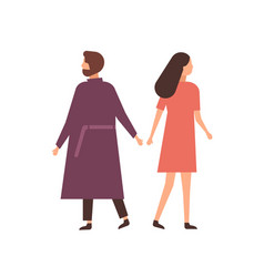 family breakup flat husband vector image