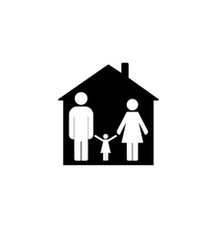 Family design over house vector