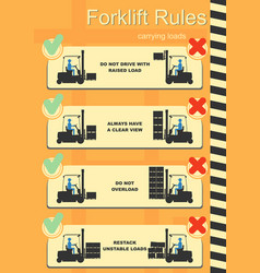Forklift safety rules vector