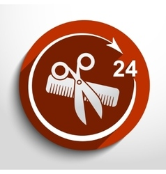 hair salon tools 24 hours service vector image